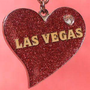 A Glittery-Heart-Las-Vegas-Souvenir-Keyring